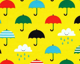 Organic CORDUROY Fabric - Cloud9 Small World Corduroy - Singin' in the Rain