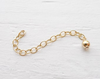 Gold Filled Extender Chain 2 inch Necklace Extension Lengthen (NHGF546)