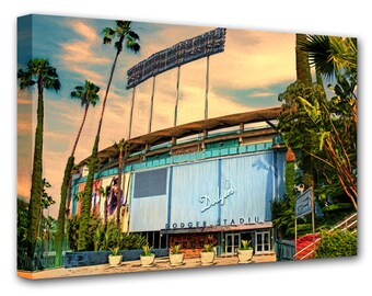 Dodger Stadium, World Series, Los Angeles Dodgers, Guy Gift, Man Cave, Baseball Stadium, LA Dodgers, Ballpark, Large Art Print, Boyfriend