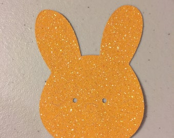 "Sparkly Orange Bunny (2 1/2"" x 3"")"