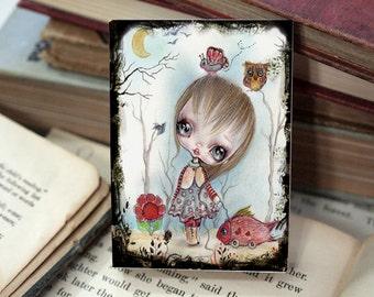 Miniature woodblock...from my original artwork
