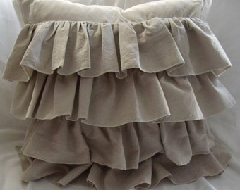 22x22 with  6inch  ruffle