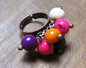 Adjustable ring colored