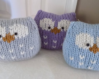 Owl Pillow - Owl Cushion -  Soft Stuffed Owl Toy - Knit Owl - Alpaca Blend Chunky Yarn - Soft Toy Cushion - Baby Gift - So Cute!
