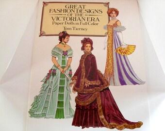 Victorian Era Paper Dolls - Tom Tierney, Great Fashion Designs, Queen Victoria, Empress Eugenie, doll clothes, period costume, women fashion