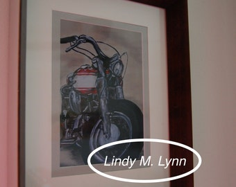 "Framed Art Print ""Betty Knuckles"""