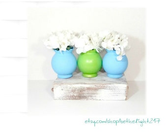 Spring Table Decor, Spring Vases, Spring Home Decor, Spring Wedding Decor, Mothers Day Vase, Flower Vase, Floral Centerpiece, Lime Decor