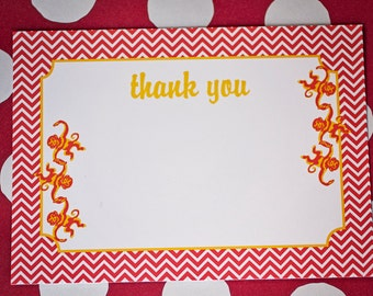 Monkey Party Thank You Card- Printable, Instant Download