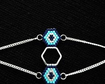 """Miyuki bracelet model """"Hexazul"""""""