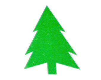 12 Green Pine Tree Seals/Stickers.
