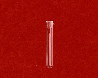 CLEARANCE - Test Tube Patent Print - 20x24 Burgundy Red