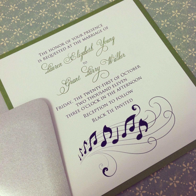 Music Note Romantic Wedding Invitation Suite The