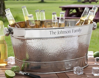 Hampton Collection Personalized Party Tub