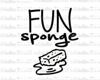 Fun Sponge SVG PNG Cutting File for Cricut & Cameo Cutting Machines