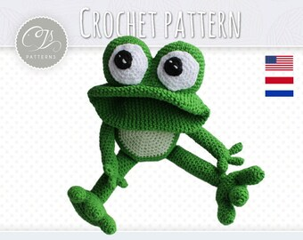Amigurumi Pattern, Frog, Stuffed Animal, Crochet Pattern