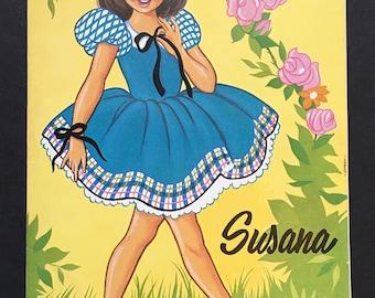 Vintage Spanish Girl Cutouts and Storybook
