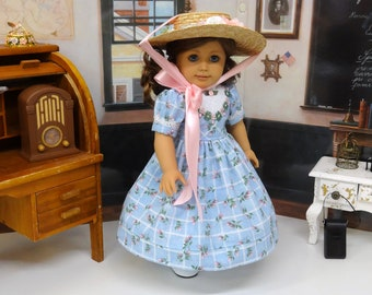Victoria Park - Victorian dress for American Girl doll with hat, undergarments and boots