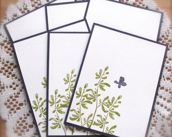 Handmade   Stamped Any Occasion Notecards   Set of 6   Shipping Included