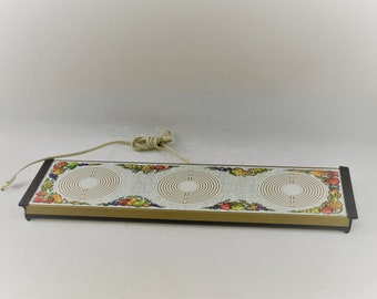 Vintage Electric Hot Plate Warming Tray, 3 Burner Tray