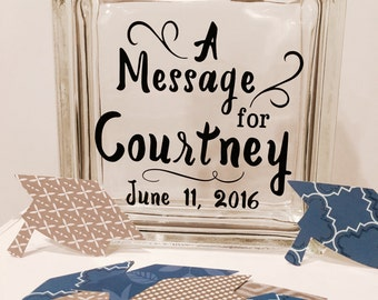 Graduation Guest Book Wish Jar - Wish Jar - Custom with name and your choice of colors - graduation theme , Bachelors, Masters Degree