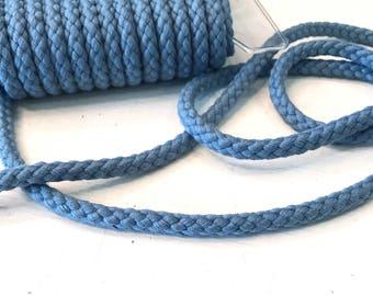 Cotton cord around 1 cm diameter jeans blue