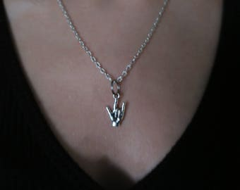 ASL I Love You Hand Necklace