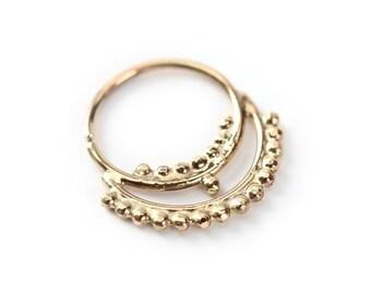 Hermosa Gold nose ring 14k yellow gold - Septum jewelry - septum ring  - Nose jewelry - tragus jewelry - nose hoop - cartilage
