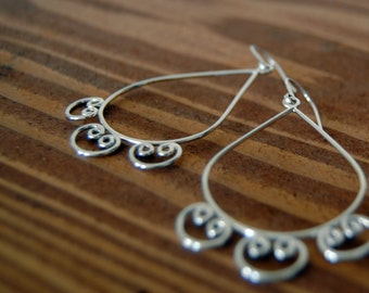 Arabic Teardrops - urban landscapes inspiration - sterling silver earrings