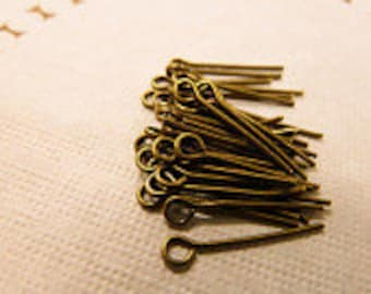 200pcs 18mm Antique Brass Eye Pins  Jewelry Handmade Eyepin
