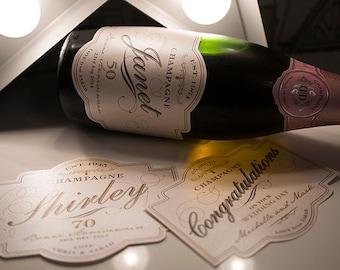 Custom Champagne Label
