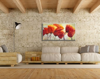 Large Wall Art Landscape Print, Modern Canvas Art, Floral Wall Art, Large Canvas Art, Modern Wall Art, Large Wall Decor Landscape Art