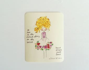 Fairy Notecards, Quote Cards, Fairy illustration