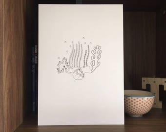 Coral Reef / Marine Life /  Under the Sea / Barrier Reef / Great Barrier Reef / Sea Print / Ocean Art / Sea Life Art / Marine Life Art