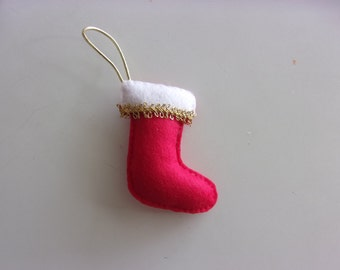 Handmade Felt Stocking Ornament