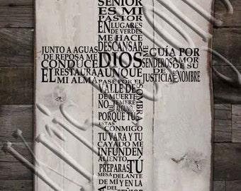 Salmos 23 Cruz SVG PNG JPG