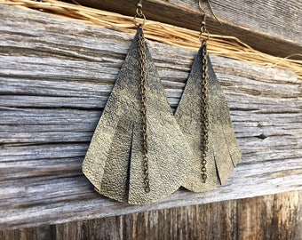 Best Jewelry Gift for Wife | Leather Anniversary Gift, Anniversary Gift Wife, Triangle Earrings, Gold Ombre Jewelry, Festival Jewelry
