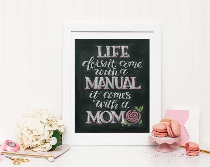 Mom We Couldn't Have Made it Without You! - A Print of an Original Chalkboard