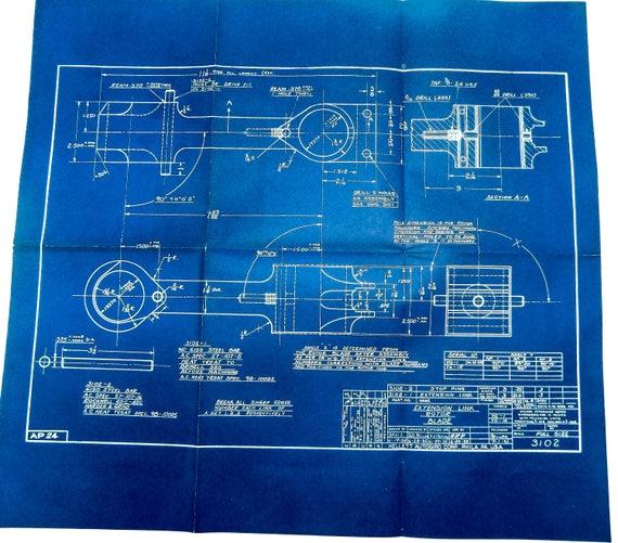 Large 1938 antique blueprint vintage airplane blueprint large 1938 antique blueprint vintage airplane blueprint aircraft blueprint urban industrial decor antique airplane print aviation art malvernweather Choice Image