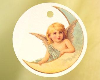 Vintage Angel on Moon Car Air Freshener