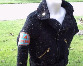 on SALE this week only Motorcycle  Crochet  Biker Jacket Toddler