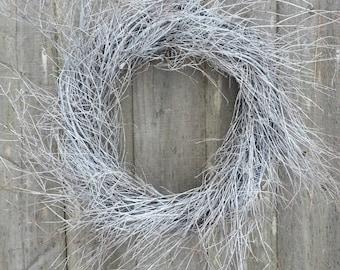 White Twig Wreath, wedding wreath