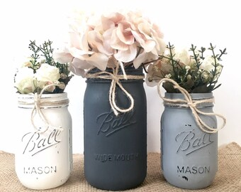 distressed mason jars, distressed chalk painted mason jar decor, painted mason jars rustic mason jars centerpiece, rustic mason jar decor