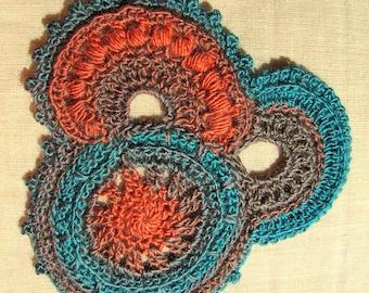 for application freeform crochet decor