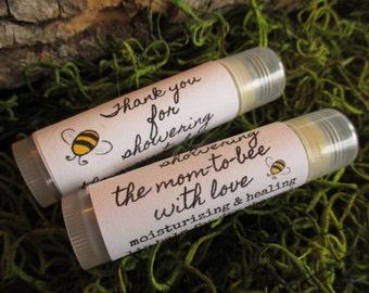 Mom to Bee Baby Shower Lip Balm Favors Organic Lip Balm Baby Shower Favor Personalized Lip Balm Favors Custom Lip Balm Baby Shower Favor