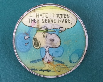 Vintage Snoopy Button 1971