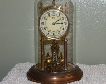 Vintage 1951 Welby 400 Day Anniversary Clock, Repair Clock, Parts, Restoration, Project Piece, Decorative Object, Clock Collector, Clocks
