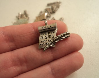 Bill of Rights - Set of 2 Charms - #B158