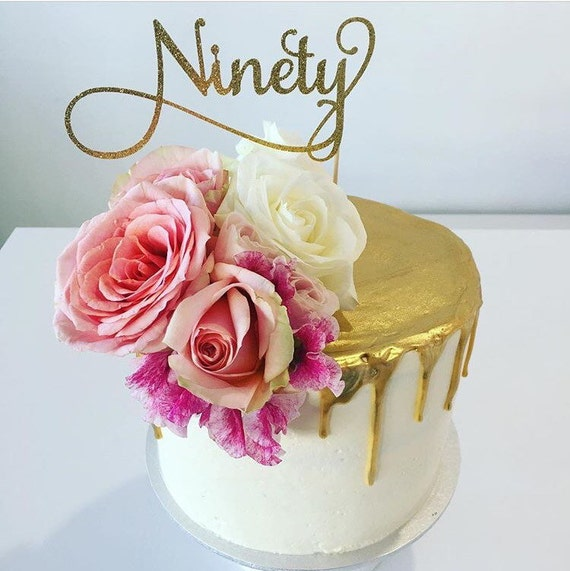 Ninety Cake Topper Assorted Colours 90 Cake Topper Happy