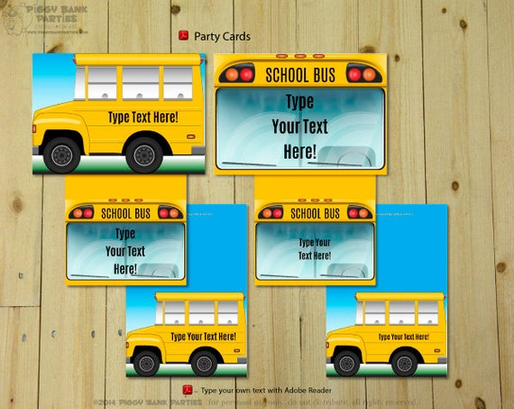 SCHOOL BUS Collection  Print at Home Wheels on the Bus Party Decoration | Back to School Birthday | Yellow School Bus | Digital Files & SCHOOL BUS Collection : Print at Home Wheels on the Bus Party