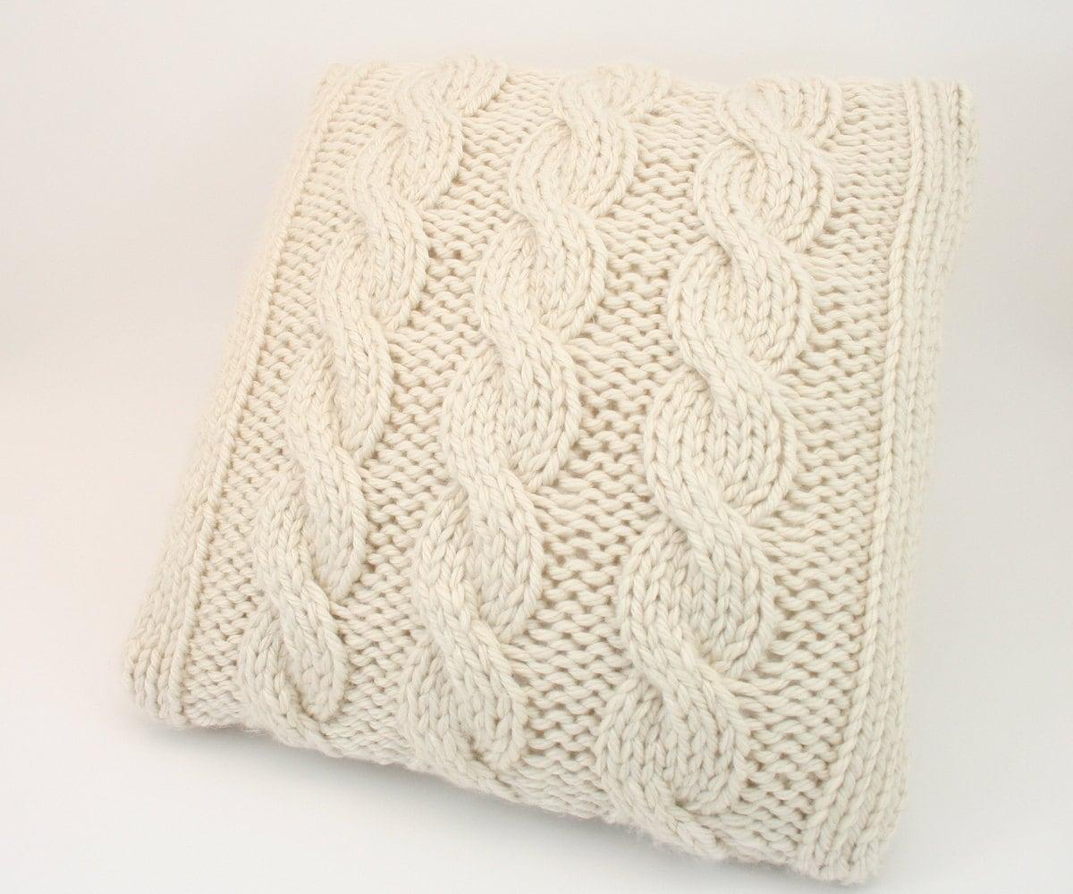 PDF DIGITAL PATTERN:Knit Pillow Cover PatternThrow Pillow